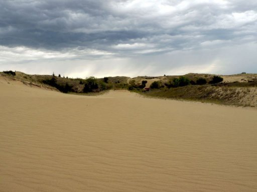 Image taken on September 1, 2013 shows sand dunes at Spirit Sands, located in the vast Spruce Woods Provincial Park © AFP/File Thibault Jourdan