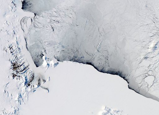 This NASA Aqua satellite image shows a view of the Western Ross Sea and Ice Shelf in Antarctica, on October 16, 2012. New Zealand said on Thursday it may revise its plans to create the world's largest ocean sanctuary off Antarctica after they were blocked by Russia earlier this year, amid concerns the proposal may be scaled-back. © NASA/AFP/File