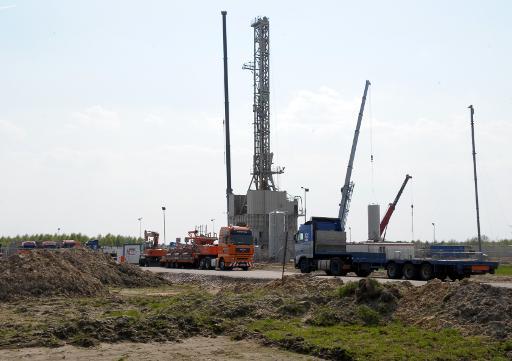 Extraction de gaz de schiste le 27 avril 2011 à Grzebowilk en Pologne © AFP/Archives Janek Skarzynski
