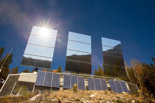 miroirs géants