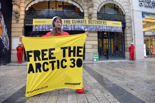 """Malgré son expérience des manifestations à hauts risques, le directeur de Greenpeace admet qu'il est """"extrêmement surpris"""" par la réponse musclée des Russes dans l'Arctique, où ses militants risquent des années de prison. © AFP Miguel Medina"""