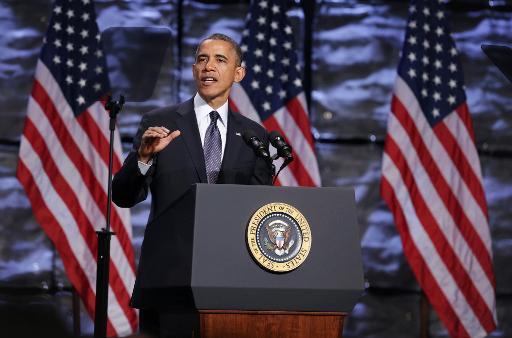 Le président des Etats-Unis Barack Obama a créé par décret vendredi un groupe de travail pour conseiller le gouvernement face aux effets du changement climatique, a annoncé la Maison Blanche. © Getty Images North America/AFP Alex Wong