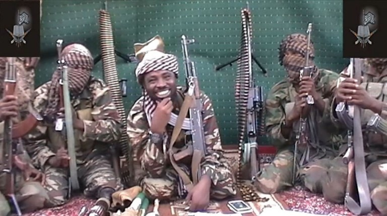 Nigéria : le leader supposé du groupe terroriste Boko Haram lors d'une annonce distribuée aux envoyés spéciaux des grands journaux internationaux en septembre 2013. ©AFP PHOTO / BOKO HARAM