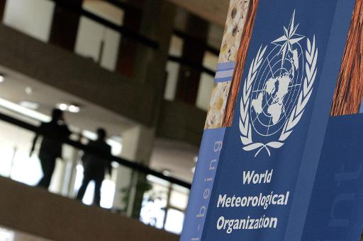 A sign of the World Meteorological Organization (WMO) is pictured on May 7, 2007 in Geneva © AFP/File Fabrice Coffrini