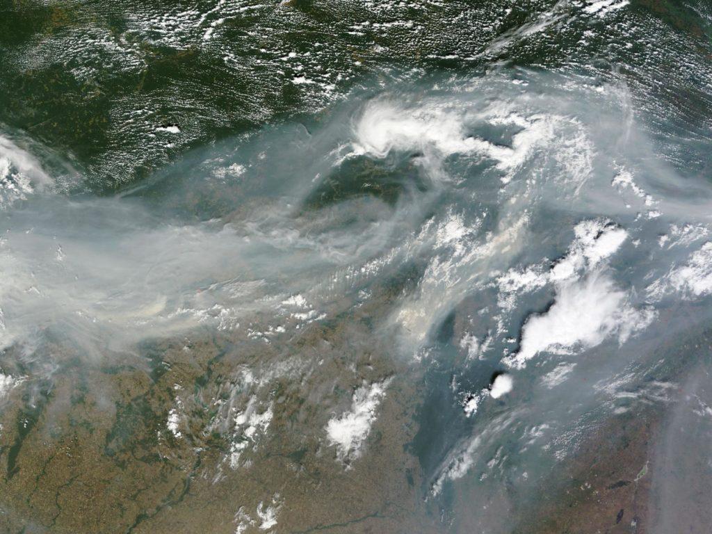 Feux de forêts en 2010 en Russie © CNES/astrium
