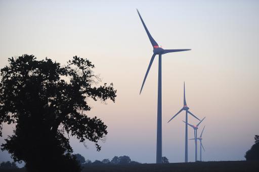 Un parc d'éoliennes dans l'ouest de la France, le 11 septembre 2011 à Freigné © AFP/Archives Jean-Sebastien Evrard