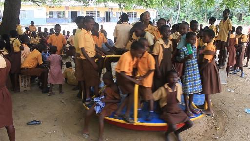 Les élèves de l'école élémentaire de Pediatorkope au Ghana, le 21 février 2015 © AFP
