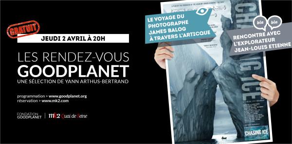 Banniere GoodPlanet - avril - ChasingIce