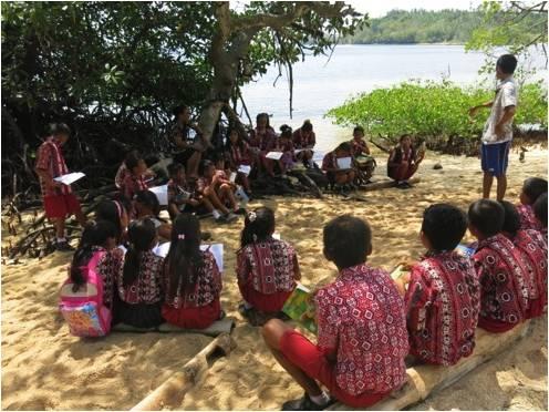 Séance de sensibilisation dans une école de Talise © Yapeka