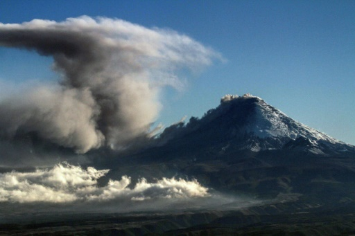 Le volcan Cotopaxi en Equateur, le 18 août 2015 © AFP PABLO COZZAGLIO