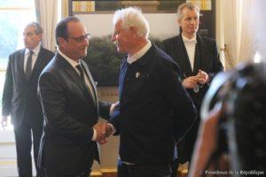 Yann Arthus-Bertrand et François Hollande Photo : Présidence de la République