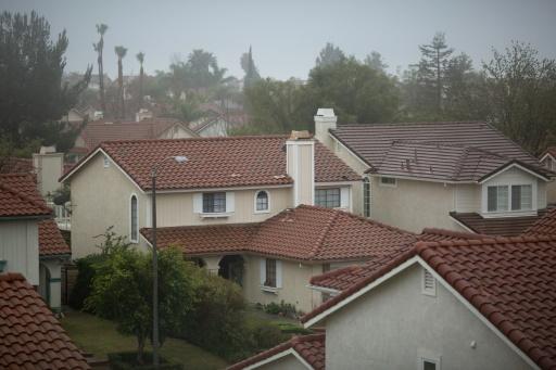 Un des quartiers de Porter Ranch (Californie) où de nombreux habitants ont quitté leur maison après une fuite massive de gaz naturel, dans la vallée de San Fernando, près de Los Angeles, le 22 décembre 2015. © AFP David MCNEW