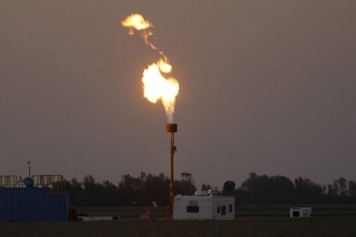 Torchère du gaz de schiste en Californie © David McNew/Getty Images/AFP