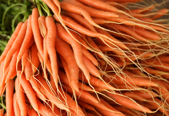Close-up of a heap of carrot