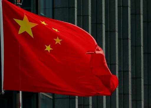 Un drapeau chinois à Pékin, le 8 août 2016 © AFP STR