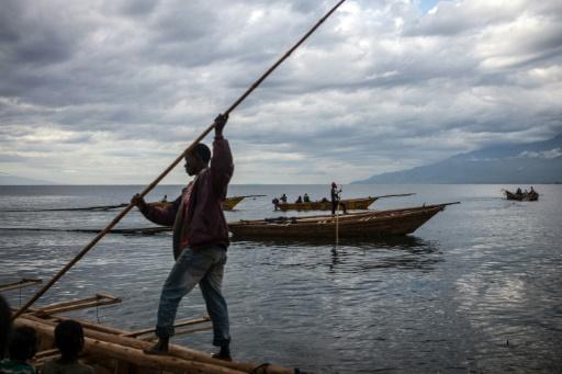 Un pêcheur sur le lac Tanganyika, le 22 mars 2015 © AFP/Archives FEDERICO SCOPPA