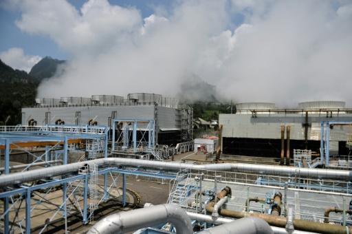 La centrale géothermique de Wayang Windu sur l'île de Java qui produit de l'électricité grâce à un volcan