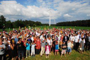 Inauguration des éoliennes citoyennes de Beganne ©©2016 EOLIEN-CITOYEN Eoliennes en Pays de Vilaine