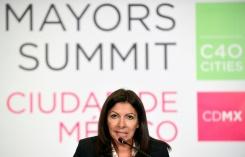 La maire de Paris, Anne Hidalgo, le 2 décembre 2016, au dernier jour du sommet des grandes villes Cities C40 pour le climat, qu'elle préside à Mexico © AFP ALFREDO ESTRELLA