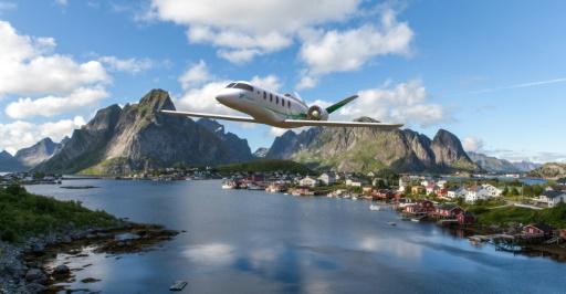avion vert