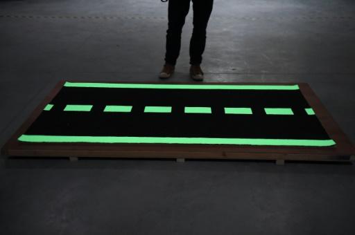 Gironde: piste cyclable photoluminescente Pessac
