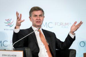 directeur unep pnue Erik Solheim demission demissionne