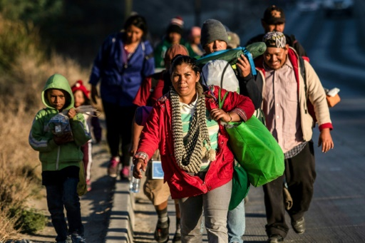 caravane de migrants