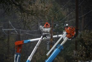 incendies en californie PG&E electricien