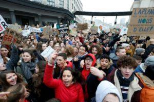 marche pour le climat belgique bruxelles étudiants