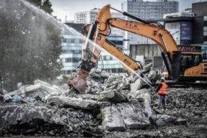 Un chantier de démolition à Colombes, dans les Hauts-de-Seine, le 28 mai 2019 © AFP STEPHANE DE SAKUTIN