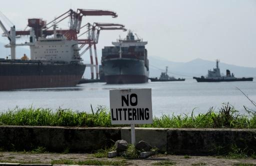 Le cargo MV Bavaria à Subic Bay aux Philippines © AFP Noel CELIS