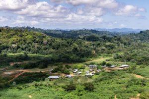 Le site du projet de Montagne d'Or, en Guyane, le 12 octobre 2017 © AFP/Archives Jody AMIET