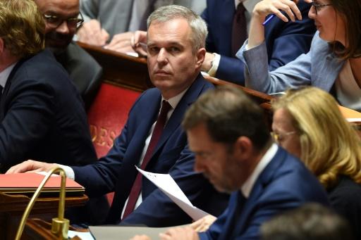 Le ministre de la Transition écologique François de Rugy (c) à l'Assemblée nationale, le 4 juin 2019 à Paris © AFP Lucas BARIOULET