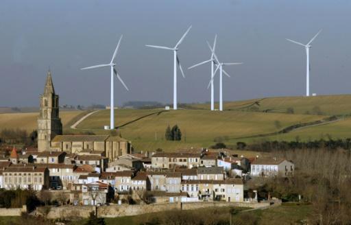 Des éoliennes à Avignonet-Lauragais, le 25 janvier 2006 près de Toulouse © AFP/Archives GEORGES GOBET