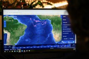 Le site Global Fishing Watch, dans les locaux de l'ONG Oceana à Washington le 10 juin 2019 © AFP Eric BARADAT