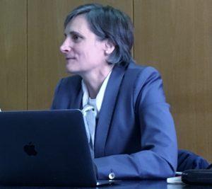Corinne Le Quéré, présidente du HCC, lors d'une conférence de presse mardi à Paris Dorothée