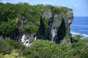 Les falaises de l'île polynésienne de Makatea, le 27 juin 2019 © AFP Mike LEYRAL
