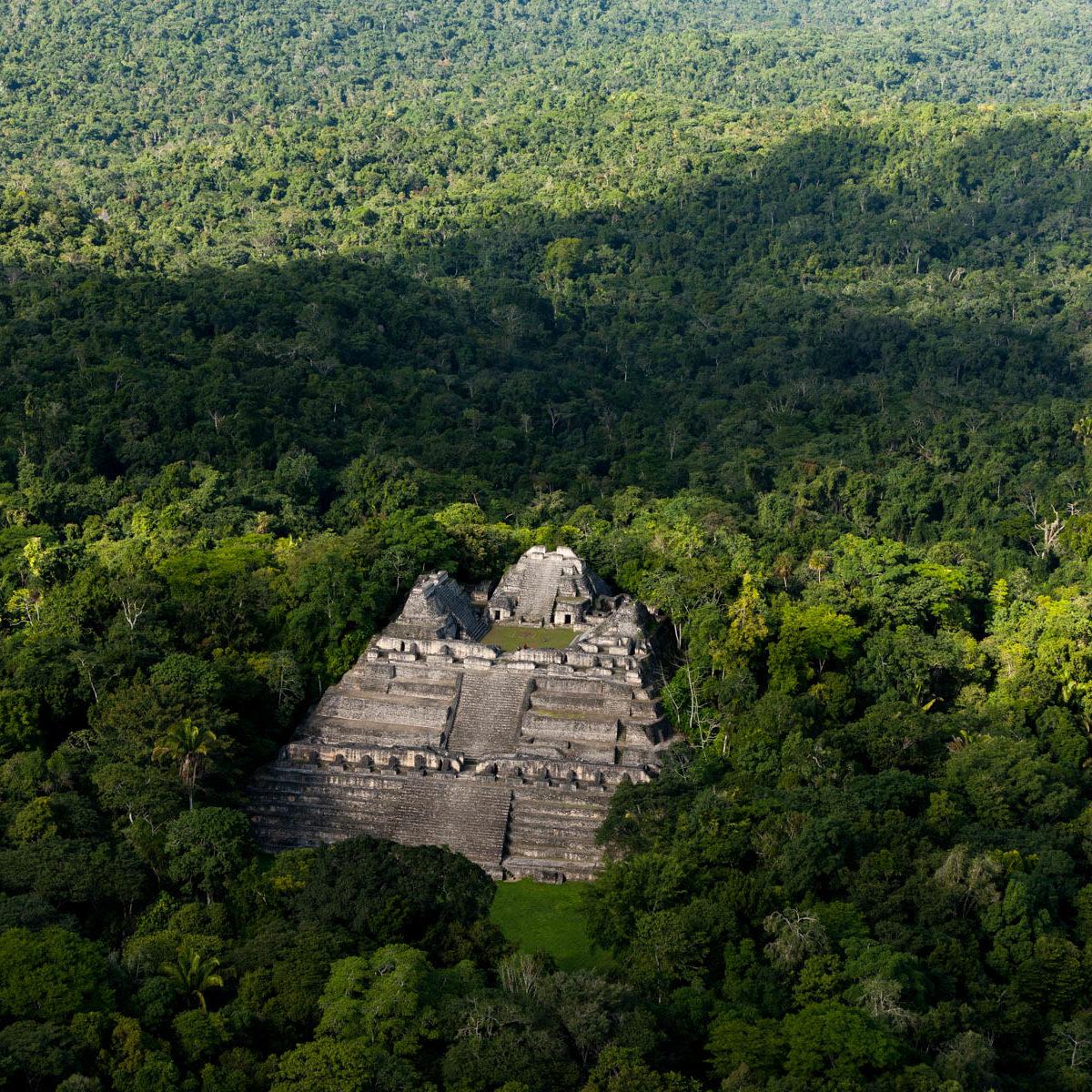 Temple maya Caana, site archéologique de Caracol, District de Cayo, Belize (16°46' N - 89°07' W) © Yann Arthus Bertrand