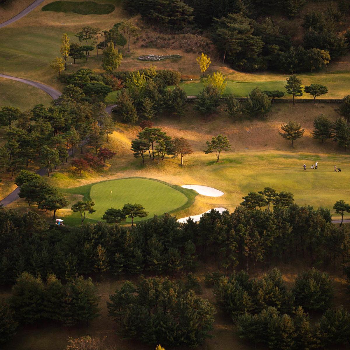 Gyeonggi - golf du Taeyoung country club, près de Yongin - Corée Du Sud – Asie (37°07' N - 127°18' E)