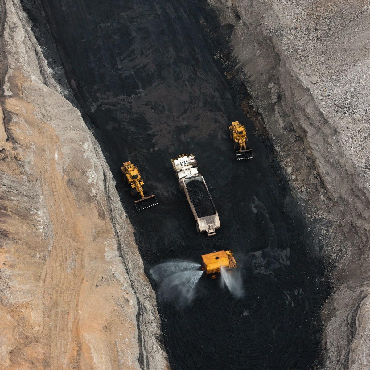 Mine de charbon à ciel ouvert près de kayenta, Arizona, Etats-Unis (32°21' n - 111°12' W)