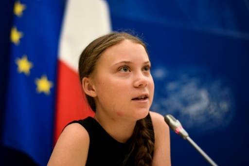 La jeune militante Greta Thunberg s'adresse à l'Assemblée nationale le 23 juillet 2019 © AFP Lionel BONAVENTURE