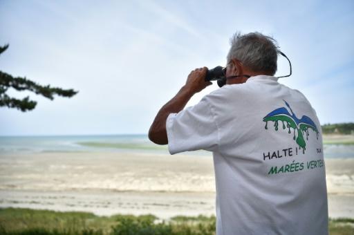 """André Ollivro, ici le 10 juillet 2019 à la plage de Grandville, aime se faire appeler """"Dédé le coriace"""" © AFP LOIC VENANCE"""