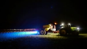 Epandage de glyphosate dans une ferme du nord-ouest de la France, à Saint-Leonard-des-Bois, le 21 mars 2019 © AFP/Archives JEAN-FRANCOIS MONIER