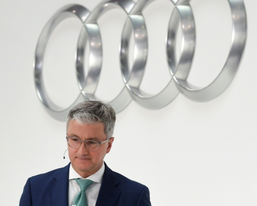 Rupert Stadler, alors PDG d'Audi, le 15 mars 2018 à Ingolstadt, dans le sud de l'Allemagne © AFP/Archives CHRISTOF STACHE