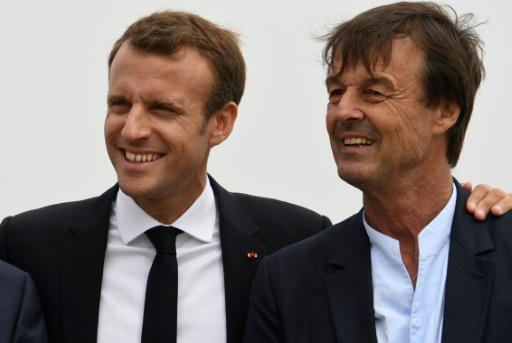 Emmanuel Macron (g) et Nicolas Hulot, le 20 juin 2018 au Cap Fréhel, à Plévenon © AFP/Archives Fred TANNEAU