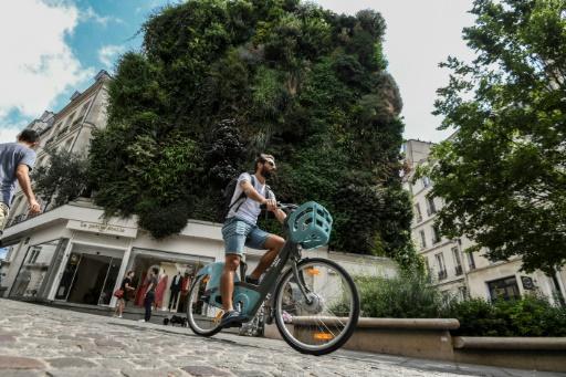Un cycliste rue d'Aboukir à Paris le 13 juillet 2019 © AFP ALAIN JOCARD