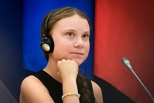Greta Thunberg à l'Assemblée nationale, le 23 juillet 2019. © AFP Lionel BONAVENTURE