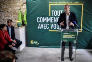 Le secrétaire national d'Europe Ecologie Les Verts David Cormand s'exprime lors d'une conférence de presse, le 17 mai 2019 à Paris © AFP/Archives STEPHANE DE SAKUTIN