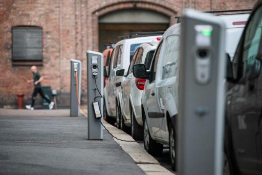 Des voitures électriques en charge à Oslo, le 30 avril 2019 © AFP/Archives Jonathan NACKSTRAND