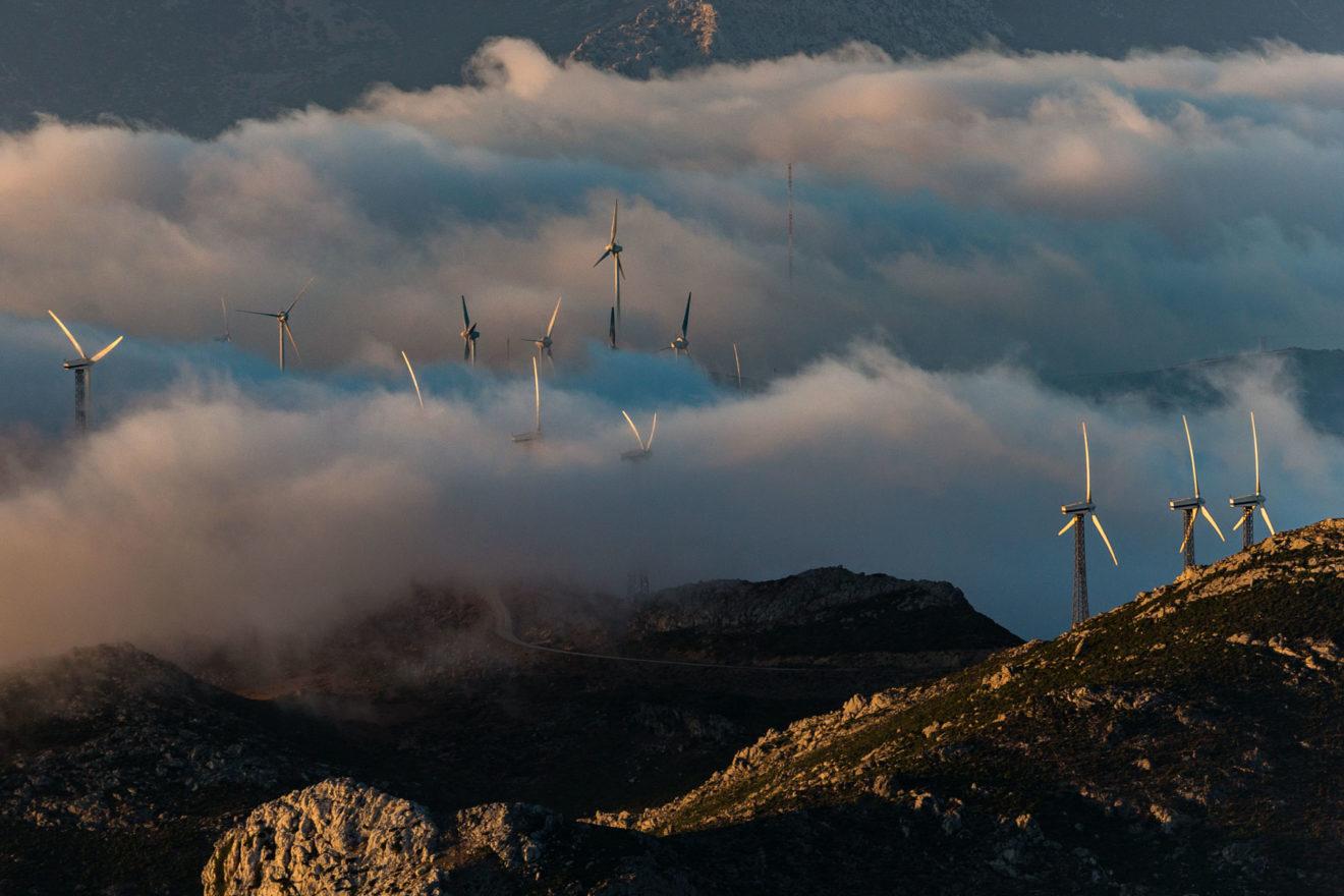 Le Parc éolien d'Haouma, Ksar Sghir, région Tanger-Tétouan-Al Hoceïma, Maroc (35°49' N - 5°33' O)